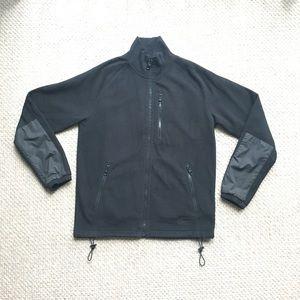 Mens Burberry Black zip up fleece jacket sz M